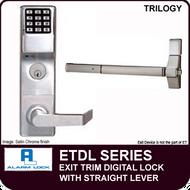Alarm Lock Trilogy ETDL Series - EXIT TRIM - With Straight Lever