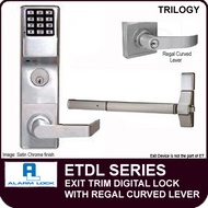 Alarm Lock Trilogy ETDL Series - EXIT TRIM - With Regal Curved Lever