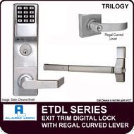 Alarm Lock Trilogy ETDL Series - EXIT TRIM - With Regal Curved Lever