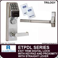 Alarm Lock Trilogy ETPDL Series - EXIT TRIM PROXIMITY LOCK - With Straight Lever