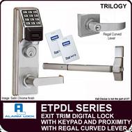 Alarm Lock Trilogy ETPDL Series - EXIT TRIM PROXIMITY LOCK - With Regal Curved Lever