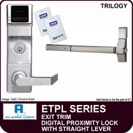 Alarm Lock Trilogy ETPL Series - EXIT TRIM PROXIMITY LOCK - With Straight Lever