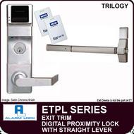 Alarm Lock Trilogy ETPL Series - EXIT TRIM PROXIMITY LOCK - With Straight Lever