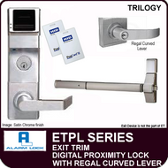 Alarm Lock Trilogy ETPL Series - EXIT TRIM PROXIMITY LOCK - With Regal Curved Lever
