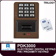 Alarm Lock Trilogy PDK3000 - ELECTRONIC DIGITAL PROXIMITY KEYPAD
