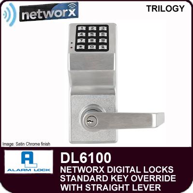 Alarm Lock Trilogy DL6100 - NETWORX DIGITAL LOCKS - Standard Key Override