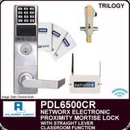 Alarm Lock Trilogy PDL6500CR - NETWORX ELECTRONIC PROXIMITY DIGITAL MORTISE LOCKS - Straight Lever Classroom Function