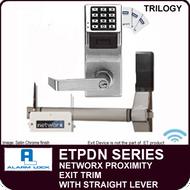 NETWORX KEYPAD AND PROXIMITY EXIT TRIM  Straight Lever - Alarm Lock Trilogy ETPDN Series