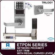 Alarm Lock Trilogy ETPDN Series - NETWORX PROXIMITY EXIT TRIM - Regal Curved Lever