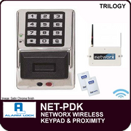 Alarm Lock Trilogy NET-PDK - NETWORX WIRELESS KEYPAD - Digital & Prox wireless keypad only