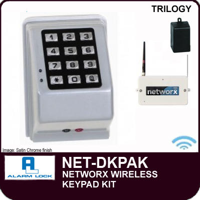 Alarm Lock Trilogy NET-DKPAK - NETWORX WIRELESS KEYPADS AND NETPANEL - Digital wireless wall mounted keypad kit