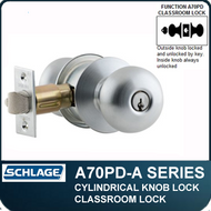 Schlage A70PD - Standard Duty Commercial Classroom Knob Locks