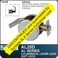 Schlage AL25D - Standard Duty Commercial Exit Lever Lock