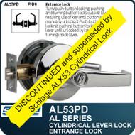 Schlage AL53PD - Standard Duty Commercial Entrance Lever Lock