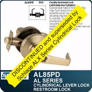 Schlage AL85PD - Standard Duty Commercial Faculty Restroom Lever Lock