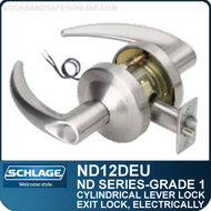 Schlage ND12DEU - Heavy Duty Electrically Unlocked (Fail Secure) Lever Lock