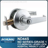 Schlage ND44S - Heavy Duty Privacy/Hospital Lever Lock