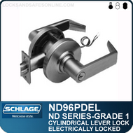 Schlage ND96PDEL - Heavy Duty Vandlgard® Electrically locked Lever Lock, Single Cylinder
