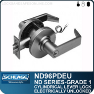 Schlage ND96PDEU - Heavy Duty Vandlgard® Electrically Unlocked Lever Lock, Single Cylinder