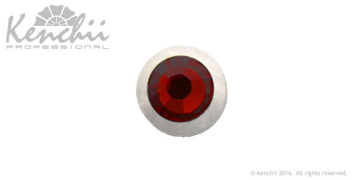 Red single stone jewel screw.