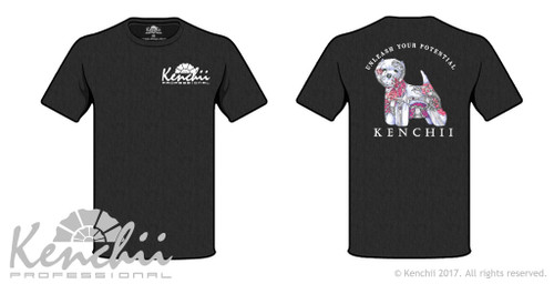 Kenchii Scorpion art tagless tee with illustration by Amber Brooks.