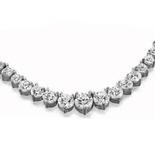 56d84b08bda4ef ... Diamond Graduated 14k Gold Tennis Necklace, center 0.90 ct. Image 1