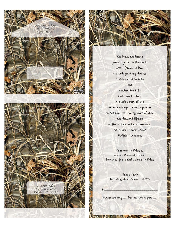 Realtree Seal N Send Wedding Invitations Papersbest