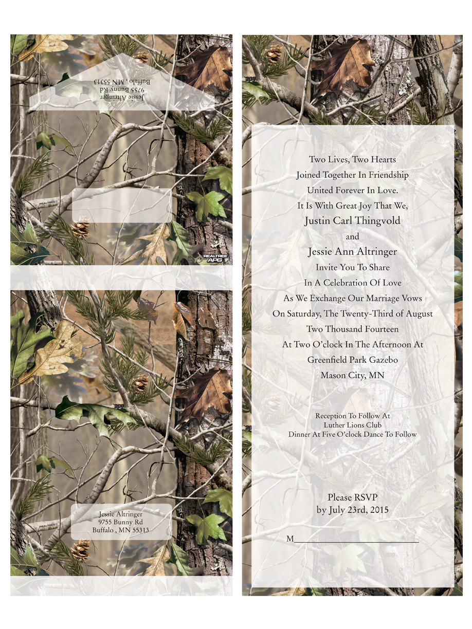 Realtree Camouflage Seal And Send Wedding Invitations From Papers Best