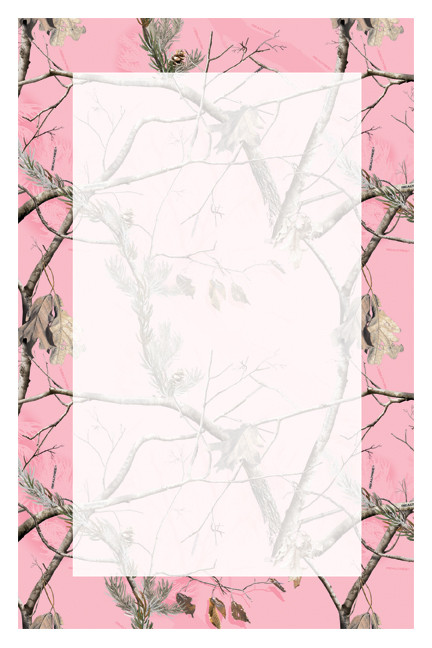 Invitation Blank Realtree Ap Pink Camo