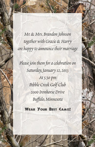 Invitation AP® Realtree Camo (Custom Printed)