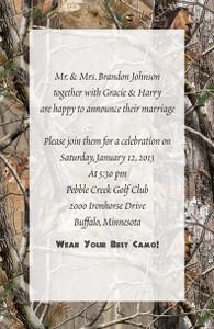 Invitation AP® Realtree Camo (Custom Printed)