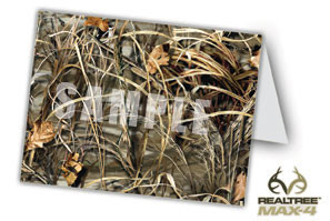 Note Card or Thank you Card with Max4 Camo