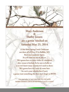 Realtree Snow Camo Invitaion