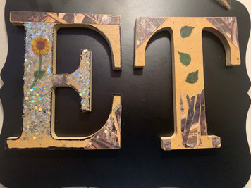 Small Wooden letters can be customized to bigger ones. Each letter can be created to your specifications.