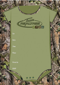 Team Realtree Baby Shower Invitation