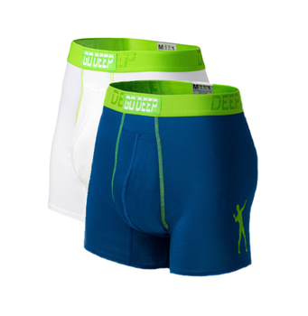 Double Pack set of Dual-Climate™ Underwear Boxers 2BLUGXWHT