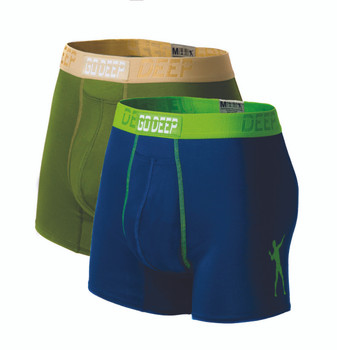 Double Pack set of Dual-Climate™ Underwear Boxers 2GRNXBLUGRN