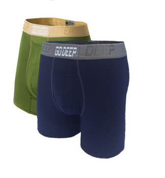 Double Pack set of Dual-Climate™ Underwear Boxers 2GRNXNAVBLUGRY