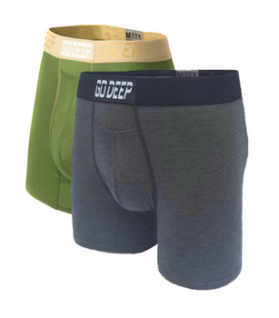 Double Pack set of Dual-Climate™ Underwear Boxers 2GRNXGRAYBLK
