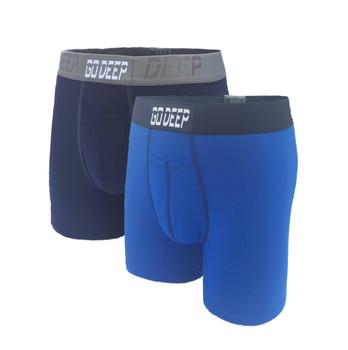 Double Pack set of Dual-Climate™ Underwear Boxers 2NAVBGXROYBBLK