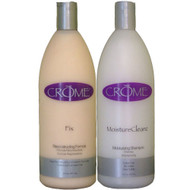 Crome Moisture Cleanz Shampoo and Fix Reconstructor Duo 32 oz