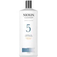 nioxin system 5 shampoo 33.8 oz for normal to thin-looking, chemically treated, medium to coarse hair