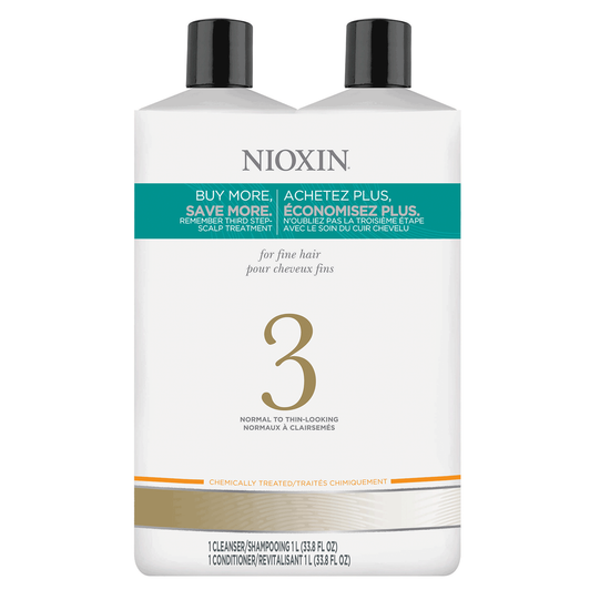 Nioxin system 3 cleanser and scalp therapy conditioner liter duo