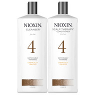 nioxin system 4 cleanser and scalp therapy conditioner liter duo