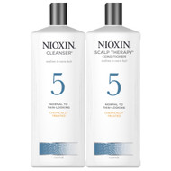 nioxin system 5 cleanser and scalp therapy conditioner medium to coarse hair chemically treated
