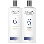nioxin system 6 shampoo and conditioner duo for medium to coarse hair noticeably thinning