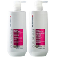 goldwell dual senses color extra rich shampoo & conditioner duo 25 oz