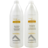 Alfaparf Milano Semi Di Lino Diamond Illuminating Shampoo and Conditioner Liter  Duo