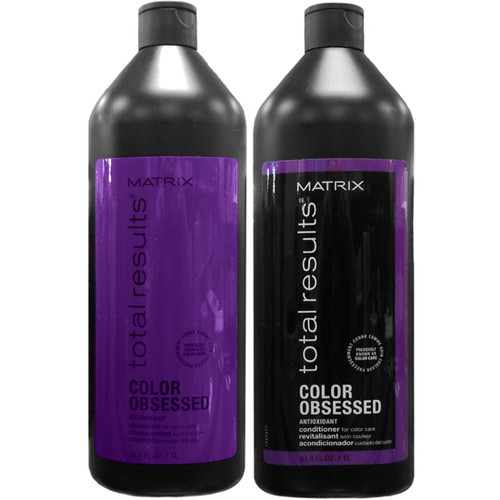 total results color obsessed shampoo and conditioner liter duo