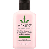 hempz blushing grapefruit & raspberry crème herbal body moisturizer 2 oz